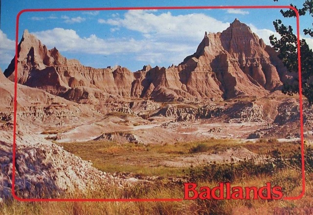 Badlands National Park Colorful Photo Postcard
