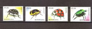 BOTSWANA BEETLES Stamp SET 2010   Animals On Stamps African National Parks Botswana national parks Beetles insects wildlife animal stamp collecting topical stamps