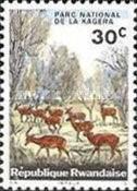 Rwanda Postage Stamps - 1965 - Kagera National Park - Impala (Aepyceros melampus)  30c