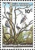 Rwanda Postage Stamps - 1965 - Kagera National Park - Marabou Stork (Leptoptilus crumeniferus)  10c