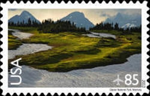 Glacier National Park Stamp   national parks       United States 2012 85c glacier national park postage stamp   scott-c149  United States National Parks